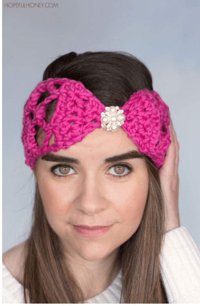 Lacy Lattice Crochet Headband