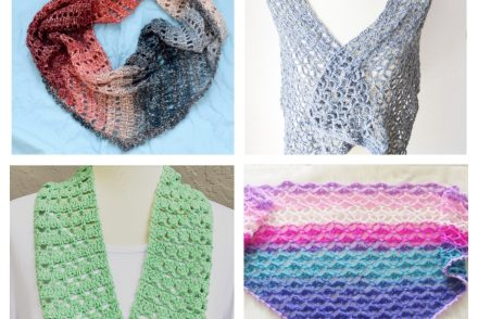 Crochet Lacy Shawls and Scarves