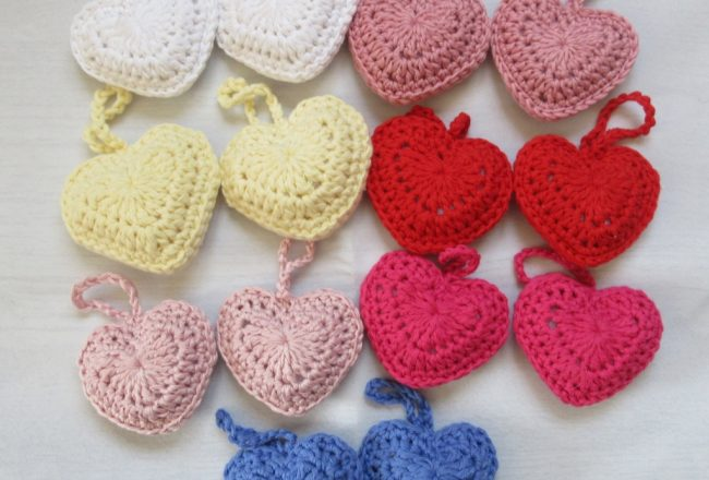 Crochet Hearts For The NHS