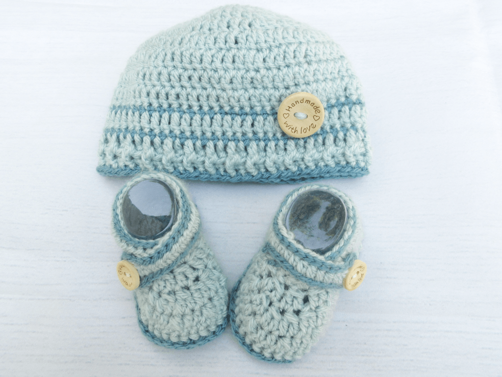 Crochet Baby Booties and Hat Sets
